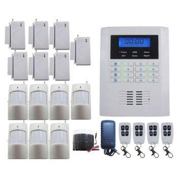 gsm alarmsystem alarmanlage mit 7 fensteralarmen 7 bewegungsmelder 1 sirene 4 fernbedienungen. Black Bedroom Furniture Sets. Home Design Ideas
