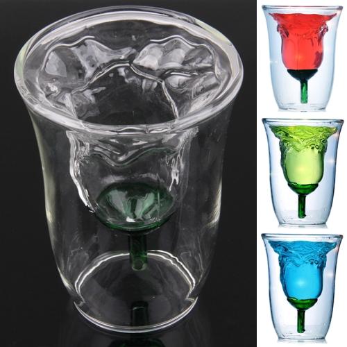 aussergew hnliches design glas als rose doppelwandig 180ml. Black Bedroom Furniture Sets. Home Design Ideas