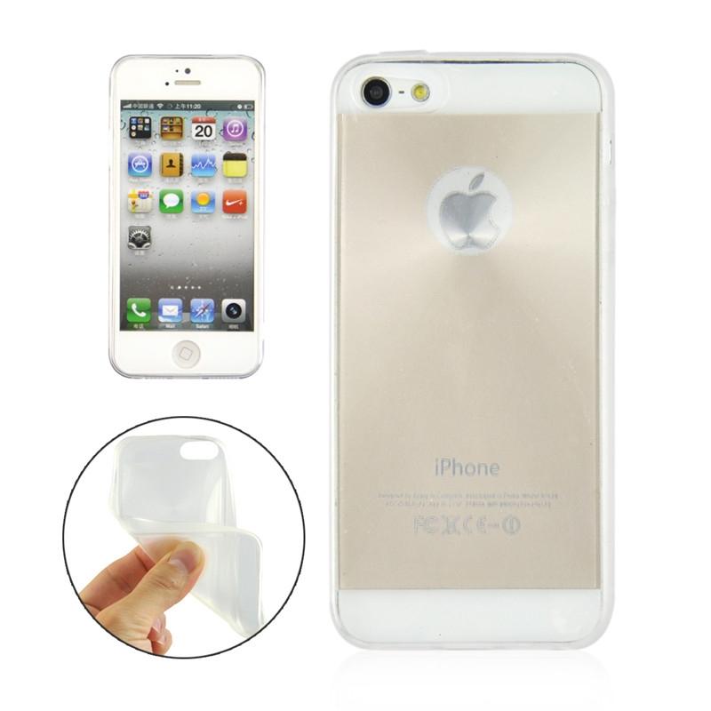 handyh lle silikon tpu 0 3mm f r apple iphone 5 weiss. Black Bedroom Furniture Sets. Home Design Ideas