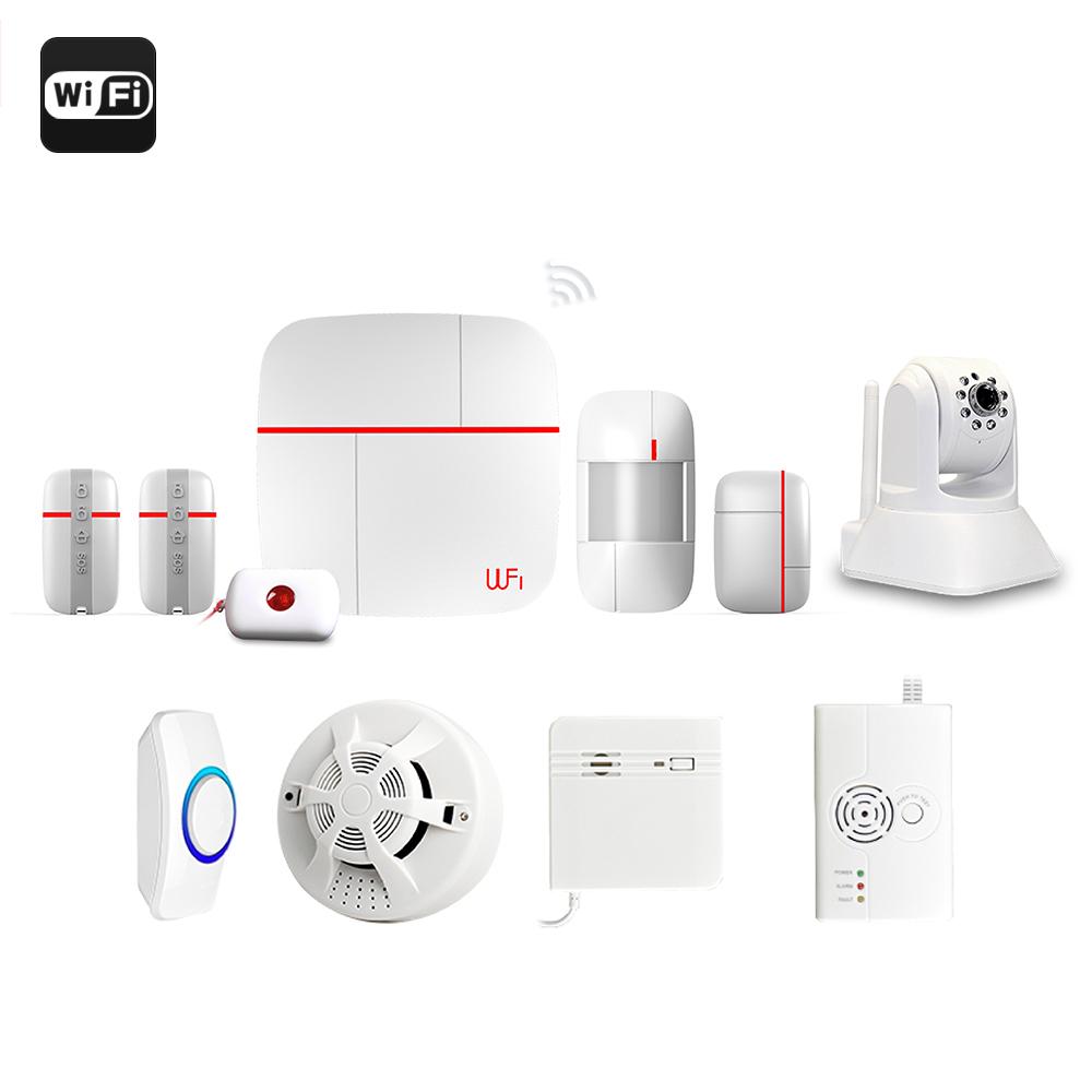 haus alarmanlage alarmsystem mit app und kamera. Black Bedroom Furniture Sets. Home Design Ideas